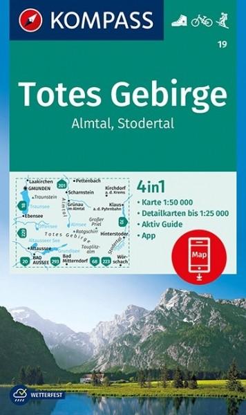KOMPASS Wanderkarte Totes Gebirge,Almtal,Stodertal