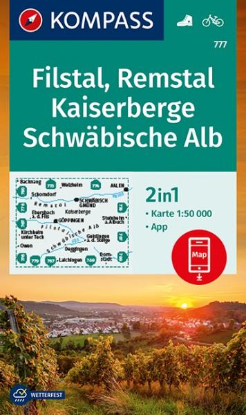 KOMPASS Wanderkarte Filstal, Remstal, Kaiserberge