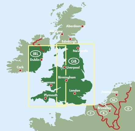 F&B Autokarte England - Wales