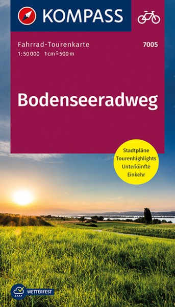 KOMPASS FahrradTourenkarte Bodenseeradweg