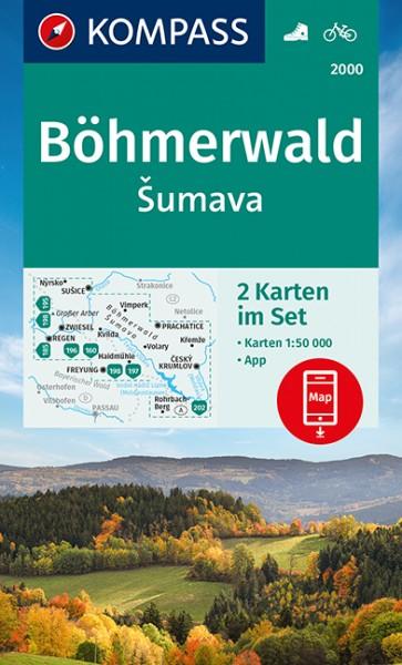 KOMPASS Wanderkarte Böhmerwald, Šumava