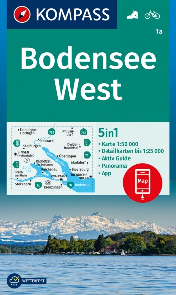 KOMPASS Wanderkarte Bodensee West