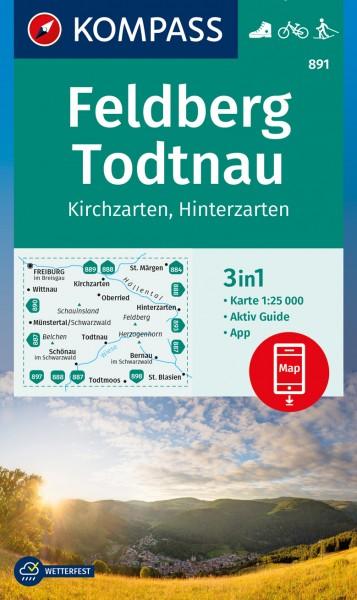 KOMPASS Wanderkarte Feldberg, Todtnau, Kirchzarten