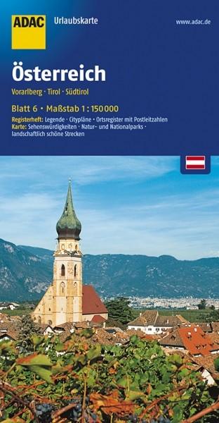 ADAC Urlaubskarte Vorarlberg, Osttirol, Südtirol