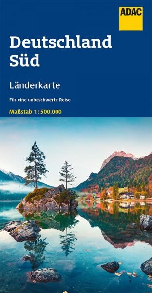 ADAC LänderKarte Deutschland Süd 1:500 000