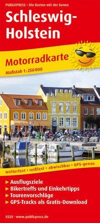 Motorradkarte Schleswig-Holstein