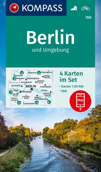 KOMPASS Wanderkarte Berlin und Umgebung