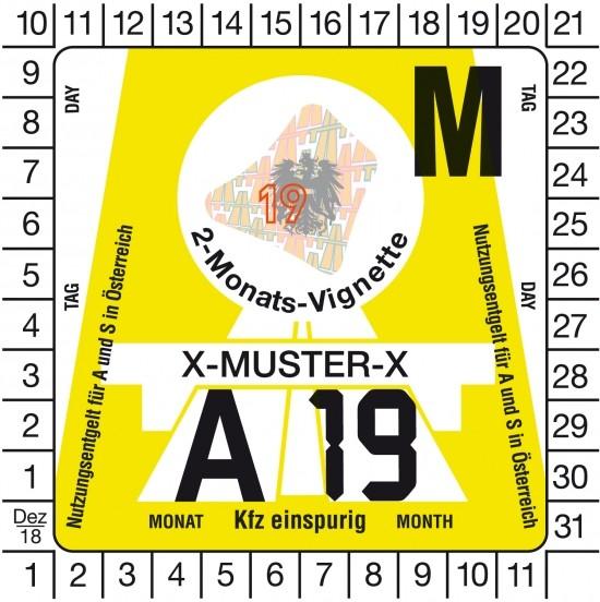 Österreich Krad Vignette - 2M