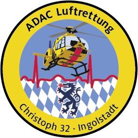 ADAC Luftrettung Fanpatch Christoph 32-Ingolstadt