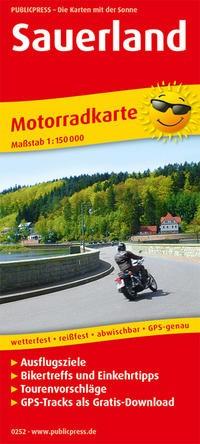 Motorradkarte Sauerland