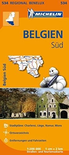 Michelin Regionalkarte Belgien Süd