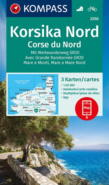 KOMPASS Wanderkarte Korsika Nord