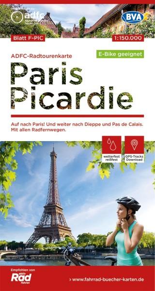 ADFC-Radtourenkarte F-PIC Paris Picardie