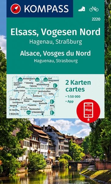 KOMPASS WK Elsass, Vogesen Nord, Alsace