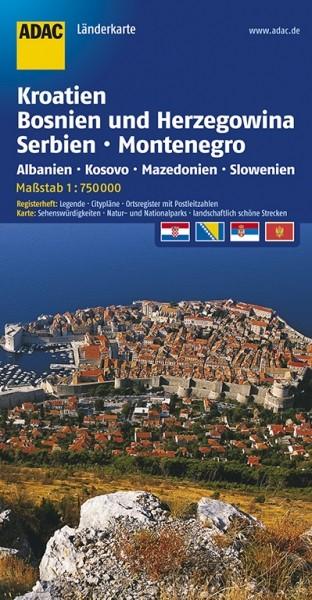 ADAC Länderkarte Kroatien