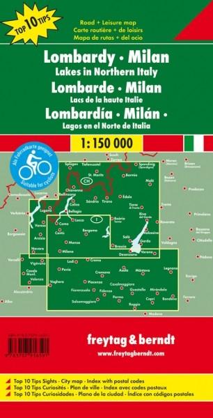 F&B Autokarte + Freizeitkarte Lombardei-Mailand