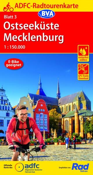ADFC-Radtourenkarte 3 Ostseeküste Mecklenburg