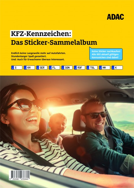 KFZ Kennzeichen Stickeralbum