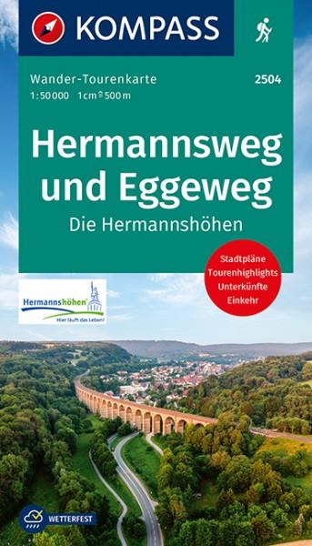 KOMPASS Karte Hermannsweg und Eggeweg