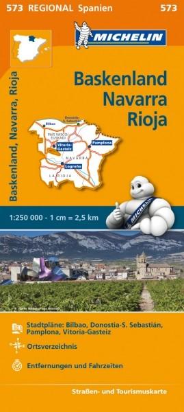 Michelin Regionalkarte Baskenland, Navarra, Rioja