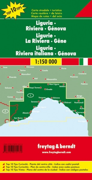 F&B Autokarte Ligurien-Italienische Riviera-Genua