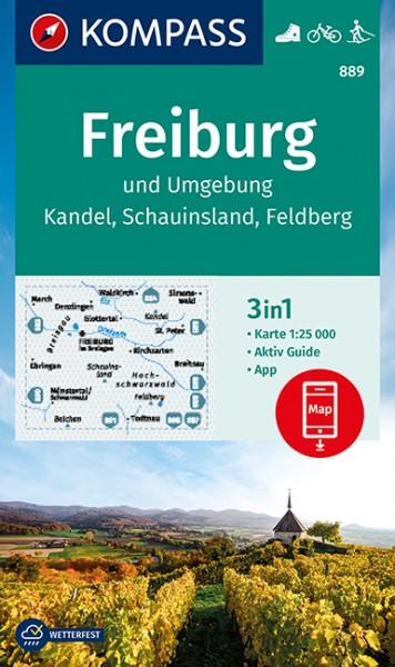 KOMPASS Wanderkarte Freiburg und Umgebung