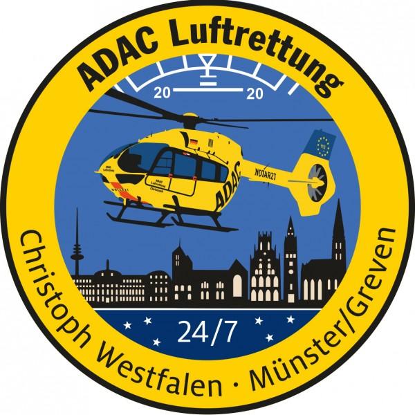 ADAC Luftrettung Fanpatch Christoph Westfalen-Mün.