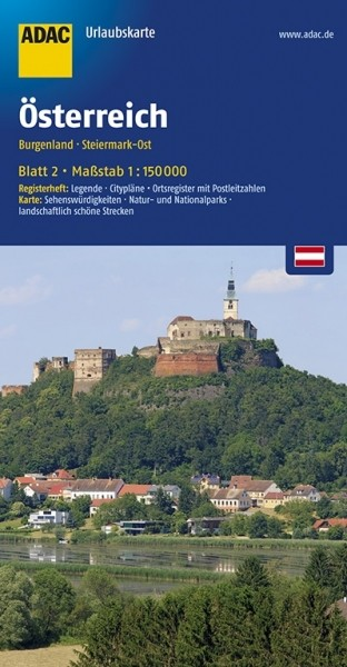 ADAC Urlaubskarte Burgenland, Steiermark Ost