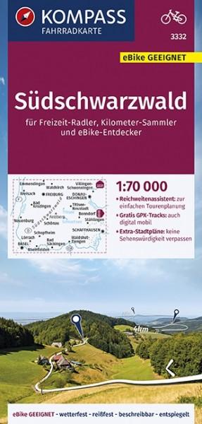 KOMPASS Fahrradkarte Südschwarzwald