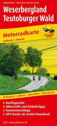 Motorradkarte Weserbergland - Teutoburger Wald