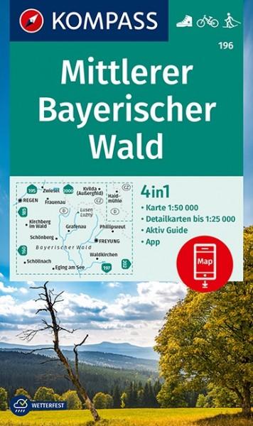 KOMPASS Wanderkarte Mittlerer Bayerischer Wald