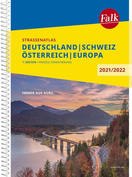 Falk Straßenatlas D-A-CH 2021/2022