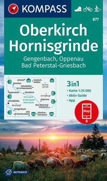 KOMPASS Wanderkarte Oberkirch-Hornisgrinde
