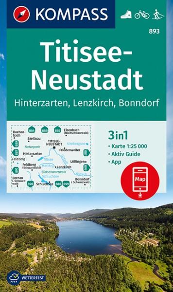 KOMPASS Wanderkarte Titisee-Neustadt