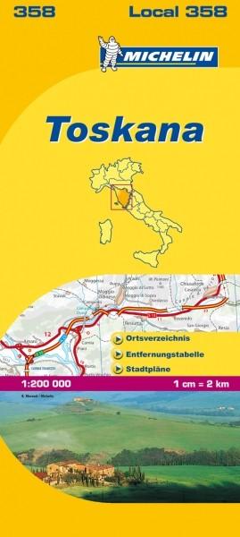 Michelin Lokalkarte Toskana