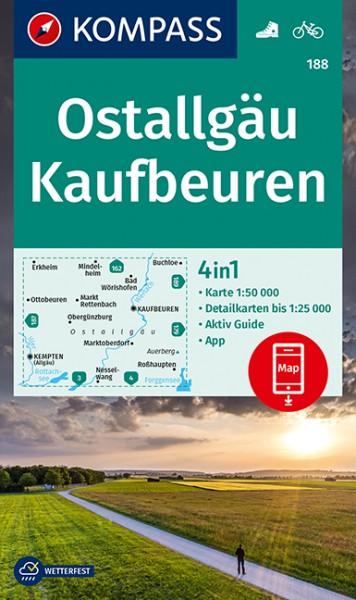 KOMPASS Wanderkarte Ostallgäu, Kaufbeuren
