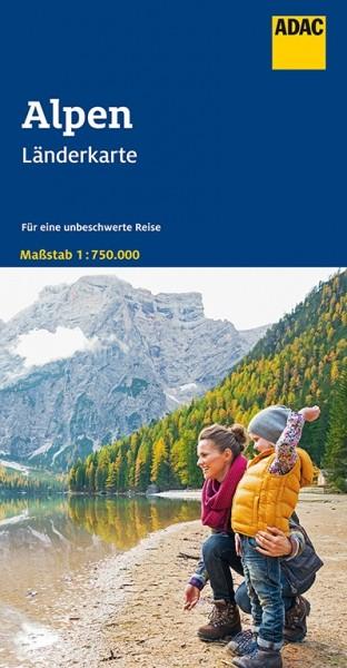 ADAC Länderkarte Alpen