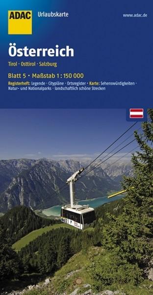 ADAC Urlaubskarte Tirol, Osttirol, Salzburg