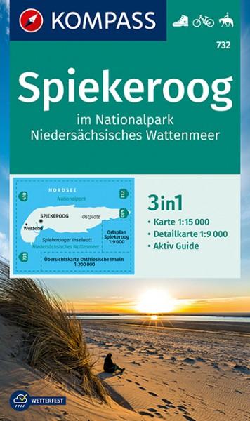KOMPASS WK Spiekeroog Nationalpark Nieders. Watt.