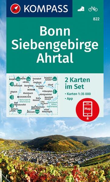 KOMPASS Wanderkarte Bonn, Siebengeb, Ahrtal
