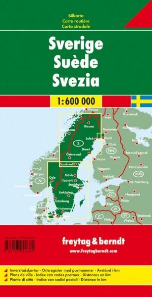 F&B Autokarte Schweden