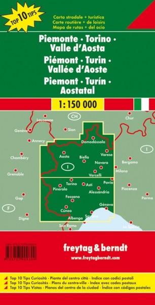 F&B Autokarte + Freizeitkarte Piemont - Turin