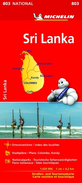 Michelin Nationalkarte Sri Lanka
