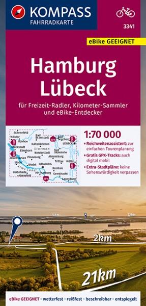 KOMPASS FK Hamburg, Lübeck 1:70.000, FK 3341
