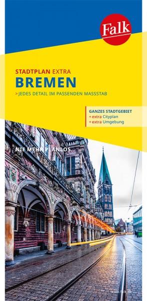 Falk Stadtplan Extra Standardfaltung Bremen