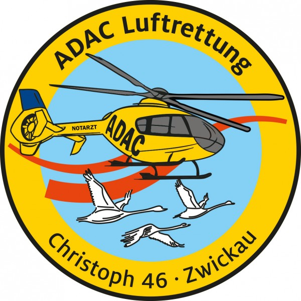 ADAC Luftrettung Fanpatch Christoph 46-Zwickau