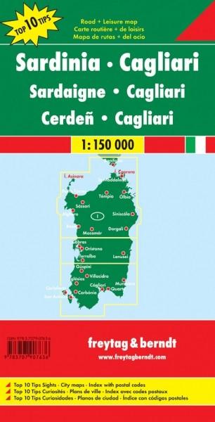 F&B Autokarte + Freizeitkarte Sardinien - Cagliari