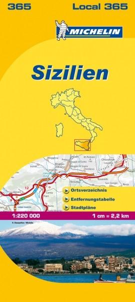 Michelin Lokalkarte Sizilien