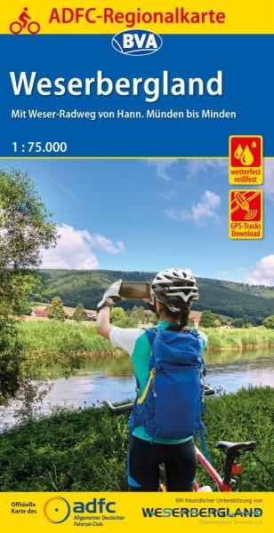 ADFC Regionalkarte Weserbergland