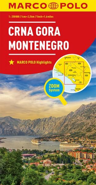 MARCO POLO Länderkarte Montenegro